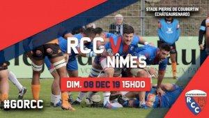 Châteaurenard  / Nimes ( Rugby Fédérale 1 - Séniors  - 11ème journée  )