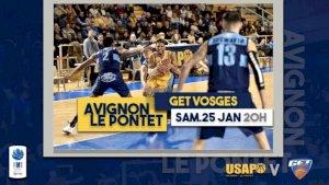 Avignon - Le Pontet / Get Vosges ( NM1 - Séniors )