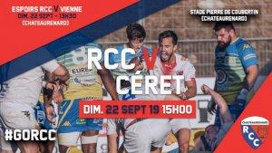 Chateaurenard / Ceret ( Fédérale 1 - Séniors - 3ème journée )